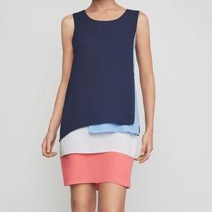 BCBGMAXAZRIA Haley Colorblocked Tank Dress